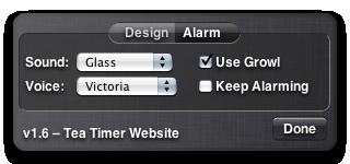 Tea Timer 1.6 –Alarm Preferences