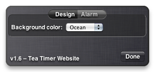 Tea Timer 1.6 – Design Preferences
