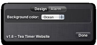 Tea Timer 1.6 – Design Preferences