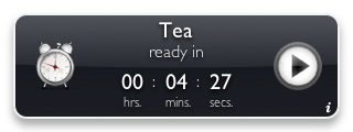 Tea Timer 1.6 (graphite background)